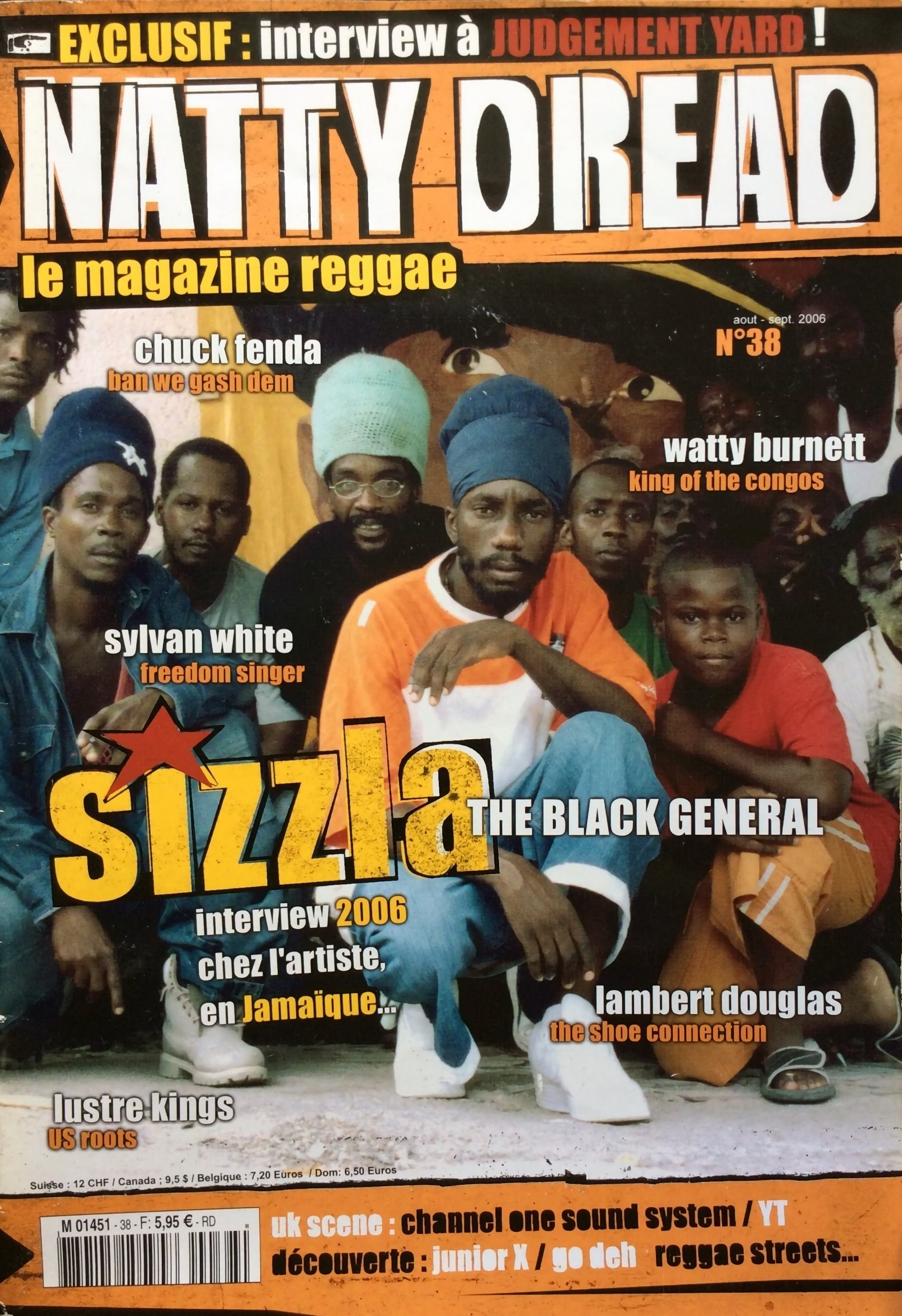 Couverture Sizzla, Natty Dread Magazine
