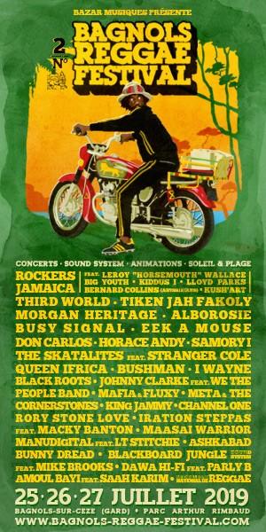 Programmation définitive du Bagnols Reggae Festival 2019